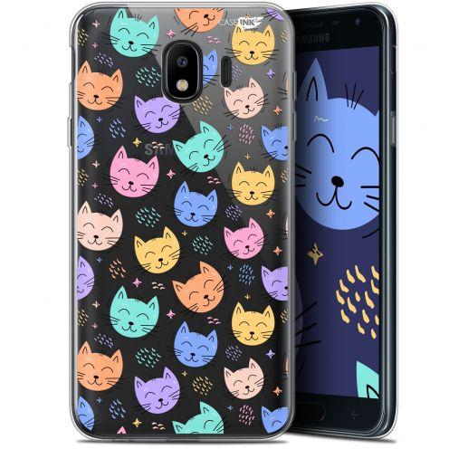 "Coque Gel Samsung Galaxy J4 2018 J400 (5.7"") Extra Fine Motif - Chat Dormant"