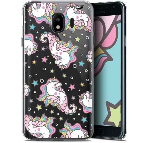 "Coque Gel Samsung Galaxy J4 2018 J400 (5.7"") Extra Fine Motif - Licorne Dormante"