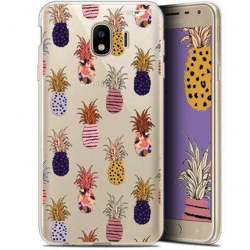 "Coque Gel Samsung Galaxy J4 2018 J400 (5.7"") Extra Fine Motif - Ananas Gold"