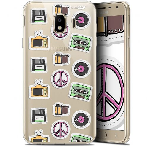 "Coque Gel Samsung Galaxy J4 2018 J400 (5.7"") Extra Fine Motif -  Vintage Stickers"