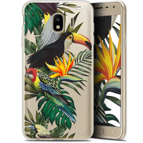 "Coque Gel Samsung Galaxy J4 2018 J400 (5.7"") Extra Fine Motif - Toucan Tropical"
