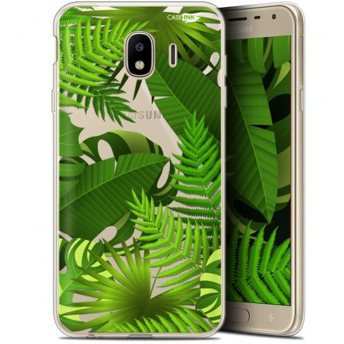 "Coque Gel Samsung Galaxy J4 2018 J400 (5.7"") Extra Fine Motif -  Plantes des Tropiques"