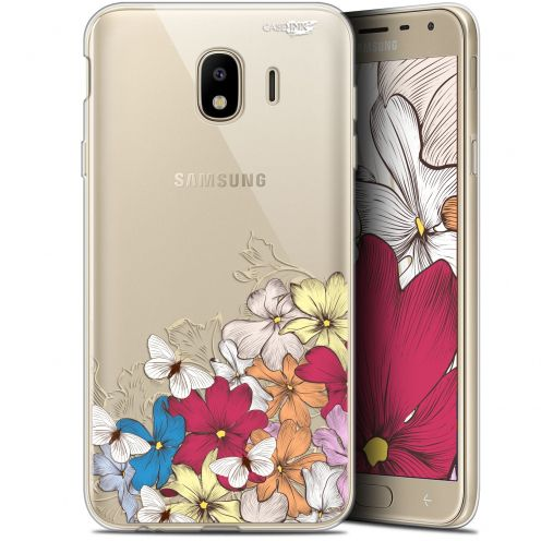 "Coque Gel Samsung Galaxy J4 2018 J400 (5.7"") Extra Fine Motif - Nuage Floral"