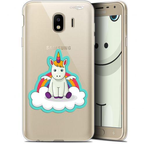 "Coque Gel Samsung Galaxy J4 2018 J400 (5.7"") Extra Fine Motif -  Bébé Licorne"