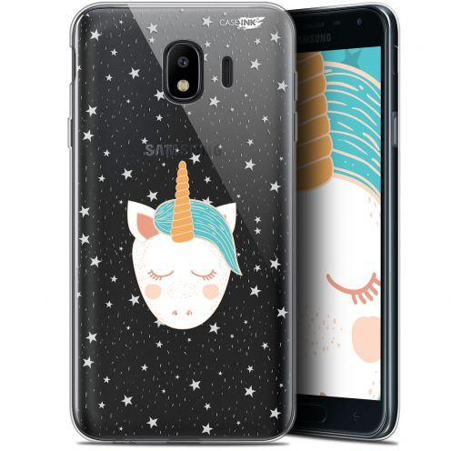 "Coque Gel Samsung Galaxy J4 2018 J400 (5.7"") Extra Fine Motif -  Licorne Dors"
