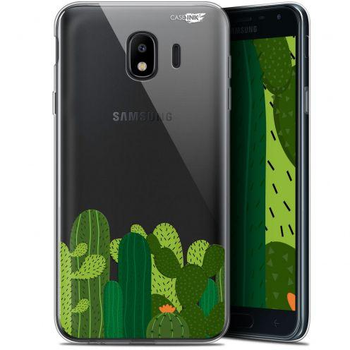 "Coque Gel Samsung Galaxy J4 2018 J400 (5.7"") Extra Fine Motif -  Cactus"
