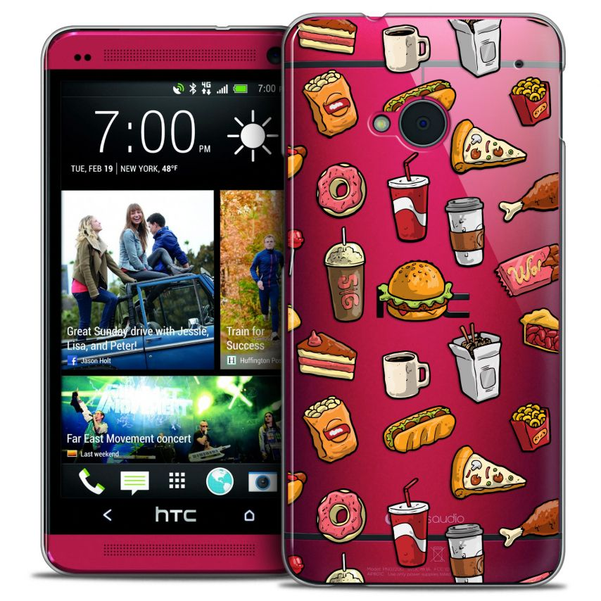 Coque Crystal HTC One (M7) Extra Fine Foodie - Fast Food