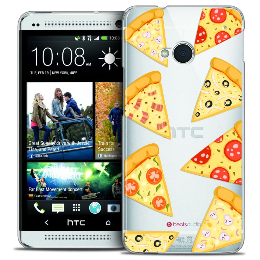 Coque Crystal HTC One (M7) Extra Fine Foodie - Pizza