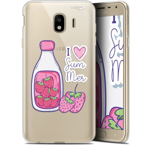 "Coque Gel Samsung Galaxy J4 2018 J400 (5.7"") Extra Fine Motif -  Milky Summer"