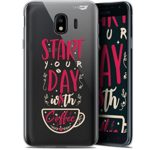 "Coque Gel Samsung Galaxy J4 2018 J400 (5.7"") Extra Fine Motif - Start With Coffee"