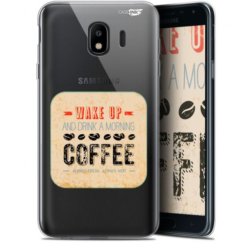 "Coque Gel Samsung Galaxy J4 2018 J400 (5.7"") Extra Fine Motif - Wake Up With Coffee"