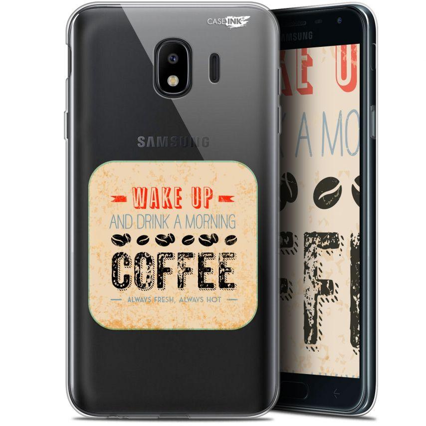 "Coque Gel Samsung Galaxy J4 2018 J400 (5.7"") Extra Fine Motif - Wake Up With Coffee"