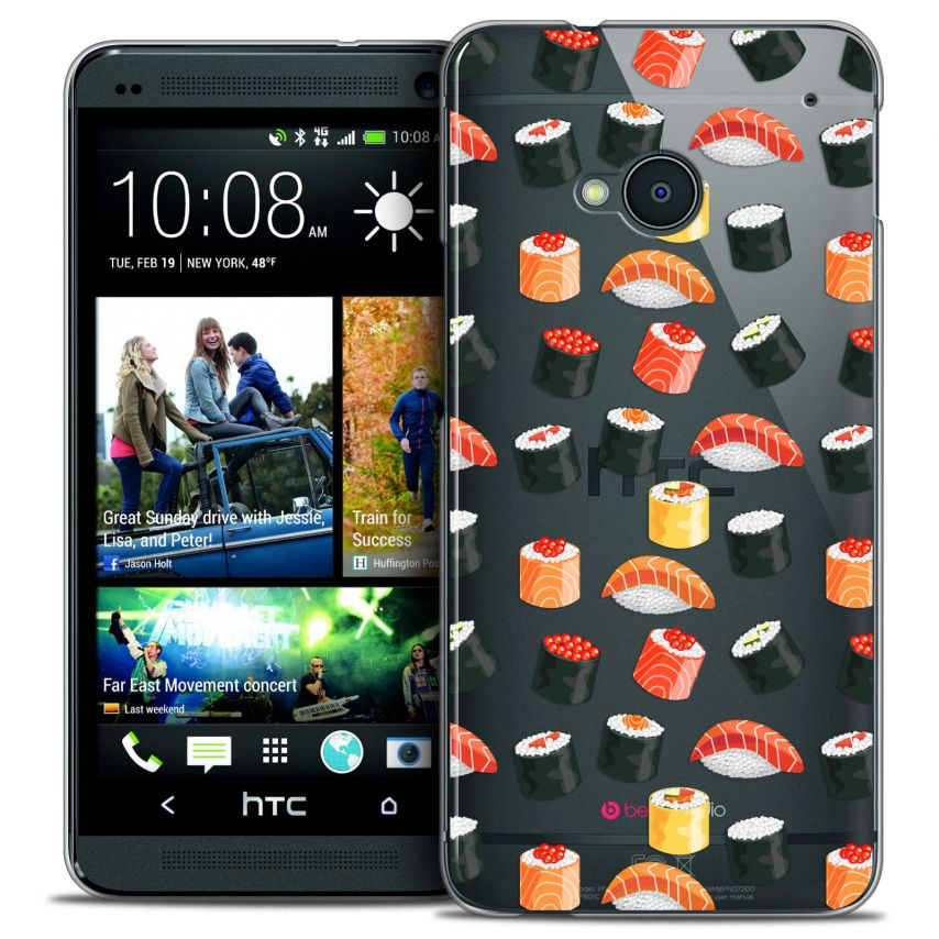Coque Crystal HTC One (M7) Extra Fine Foodie - Sushi