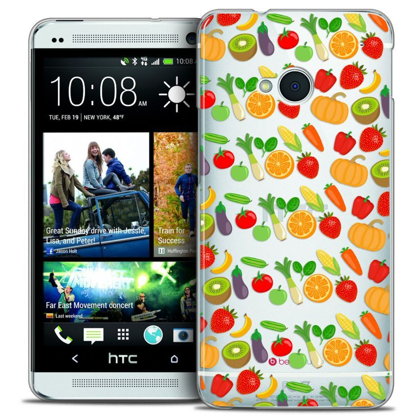 Coque Crystal HTC One (M7) Extra Fine Foodie - Healthy