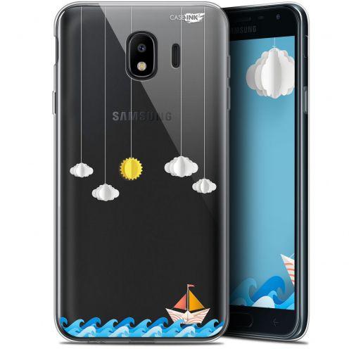 "Coque Gel Samsung Galaxy J4 2018 J400 (5.7"") Extra Fine Motif -  Petit Bateau en Mer"