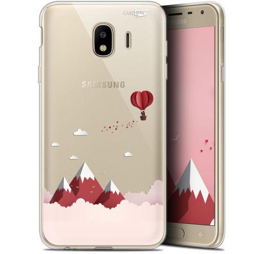 "Coque Gel Samsung Galaxy J4 2018 J400 (5.7"") Extra Fine Motif -  Montagne En Montgolfière"