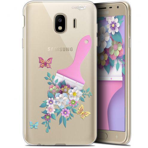 "Coque Gel Samsung Galaxy J4 2018 J400 (5.7"") Extra Fine Motif -  Pinceau à Fleurs"
