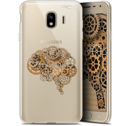 "Coque Gel Samsung Galaxy J4 2018 J400 (5.7"") Extra Fine Motif - Mécanismes du Cerveau"