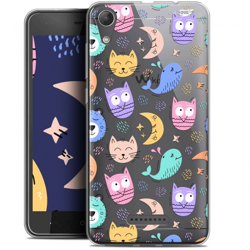 """Coque Gel Wiko Lenny 4 (5"""") Extra Fine Motif -  Chat Hibou"""