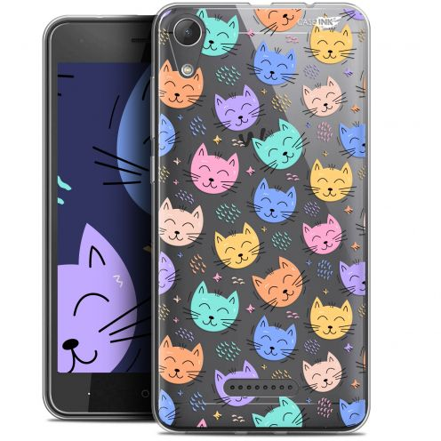 "Coque Gel Wiko Lenny 4 (5"") Extra Fine Motif - Chat Dormant"