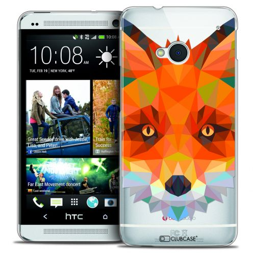 Coque Crystal HTC One (M7) Extra Fine Polygon Animals - Renard