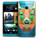 Coque Crystal HTC One (M7) Extra Fine Polygon Animals - Cerf