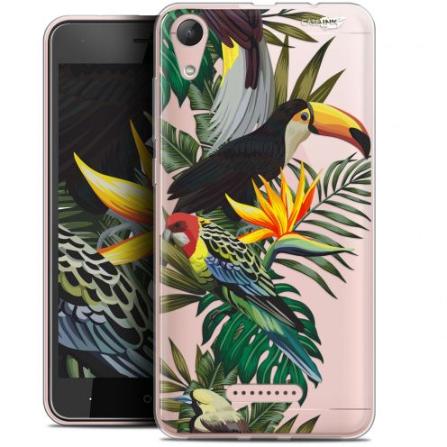 "Coque Gel Wiko Lenny 4 (5"") Extra Fine Motif - Toucan Tropical"