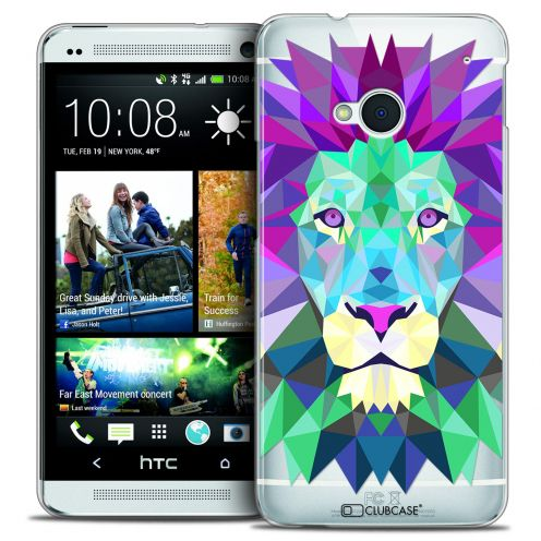 Coque Crystal HTC One (M7) Extra Fine Polygon Animals - Lion