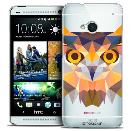 Coque Crystal HTC One (M7) Extra Fine Polygon Animals - Hibou