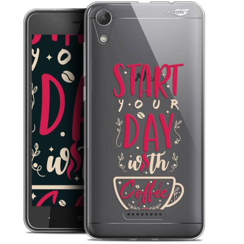 """Coque Gel Wiko Lenny 4 (5"""") Extra Fine Motif -  Start With Coffee"""