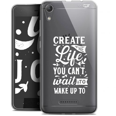 """Coque Gel Wiko Lenny 4 (5"""") Extra Fine Motif -  Wake Up Your Life"""
