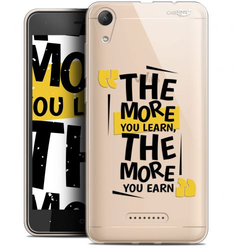 """Coque Gel Wiko Lenny 4 (5"""") Extra Fine Motif -  The More You Learn"""