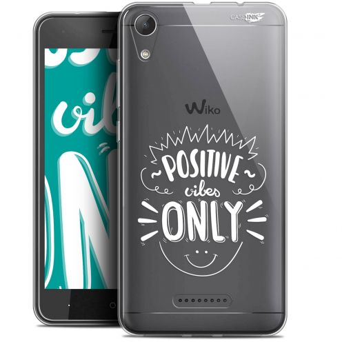 """Coque Gel Wiko Lenny 4 (5"""") Extra Fine Motif -  Positive Vibes Only"""