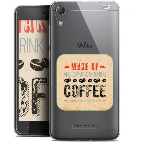 """Coque Gel Wiko Lenny 4 (5"""") Extra Fine Motif -  Wake Up With Coffee"""