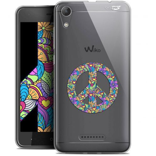 """Coque Gel Wiko Lenny 4 (5"""") Extra Fine Motif -  Peace And Love"""