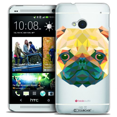 Coque Crystal HTC One (M7) Extra Fine Polygon Animals - Chien