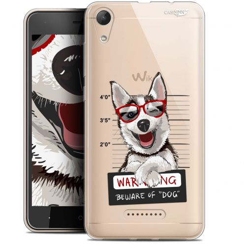 "Coque Gel Wiko Lenny 4 (5"") Extra Fine Motif - Beware The Husky Dog"