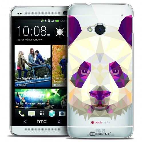 Coque Crystal HTC One (M7) Extra Fine Polygon Animals - Panda