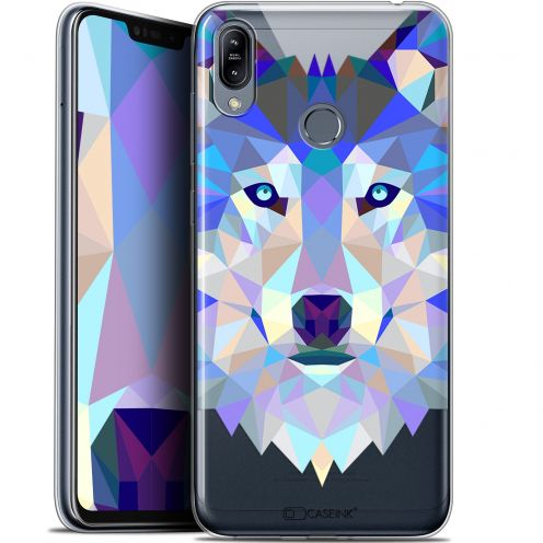 "Coque Gel Asus Zenfone Max (M2) ZB633KL (6.3"") Extra Fine Polygon Animals - Loup"