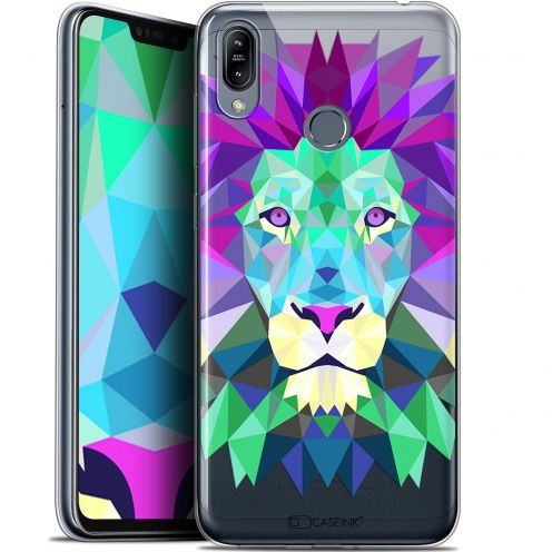 "Coque Gel Asus Zenfone Max (M2) ZB633KL (6.3"") Extra Fine Polygon Animals - Lion"