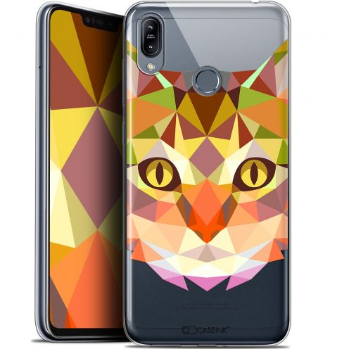 "Coque Gel Asus Zenfone Max (M2) ZB633KL (6.3"") Extra Fine Polygon Animals - Chat"
