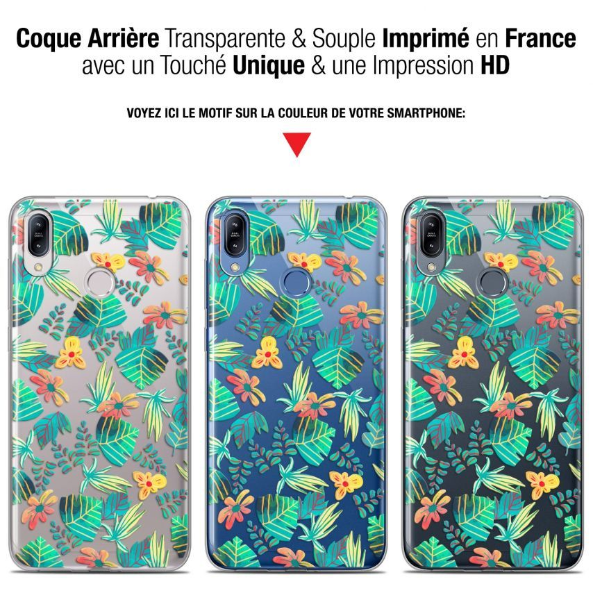 """Coque Gel Asus Zenfone Max (M2) ZB633KL (6.3"""") Extra Fine Spring - Tropical"""