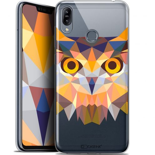 "Coque Gel Asus Zenfone Max (M2) ZB633KL (6.3"") Extra Fine Polygon Animals - Hibou"