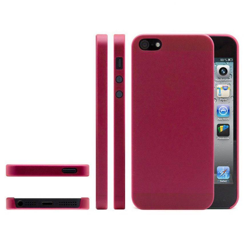 Photo réelle de Coque Souple Extra Fine iPhone 5 Rouge