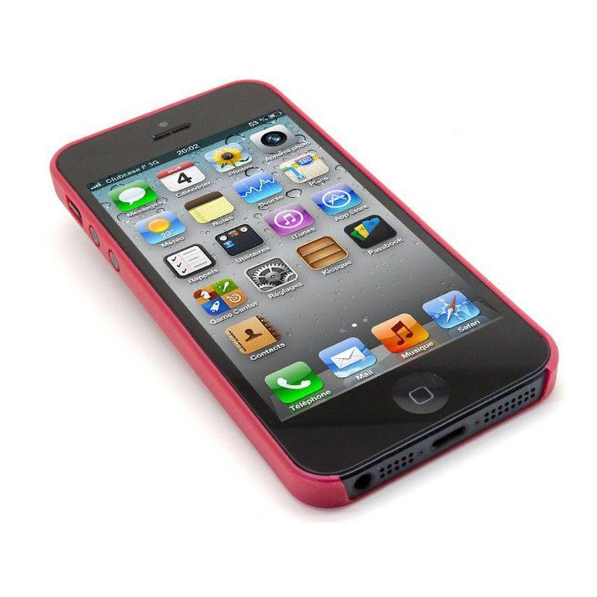 Vue portée de Coque Souple Extra Fine iPhone 5 Rouge