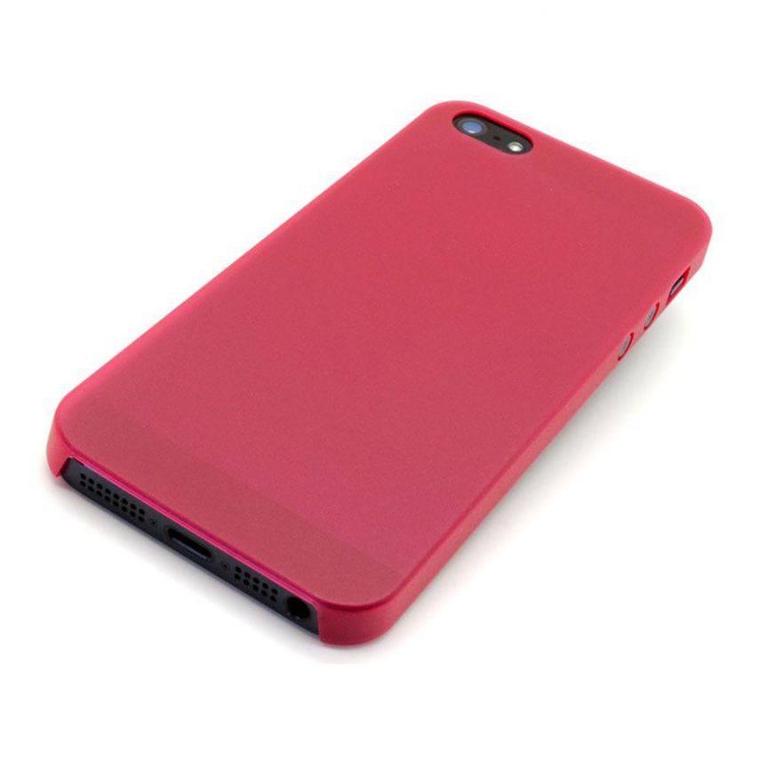 Visuel unique de Coque Souple Extra Fine iPhone 5 Rouge