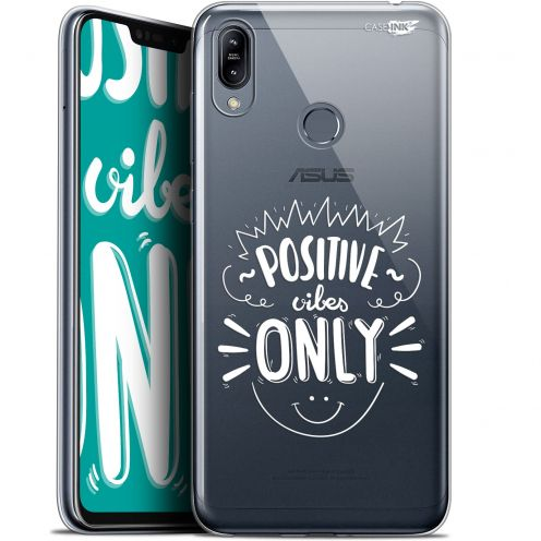 "Coque Gel Asus Zenfone Max (M2) ZB633KL (6.3"") Extra Fine Motif -  Positive Vibes Only"