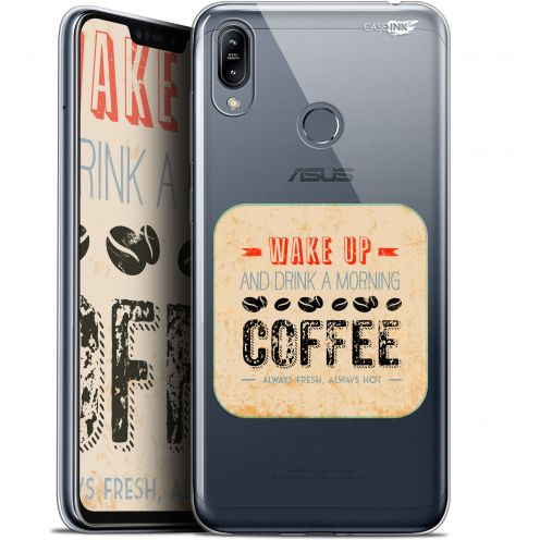 "Coque Gel Asus Zenfone Max (M2) ZB633KL (6.3"") Extra Fine Motif -  Wake Up With Coffee"
