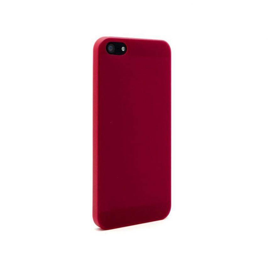 Visuel supplémentaire de Coque Souple Extra Fine iPhone 5 Rouge