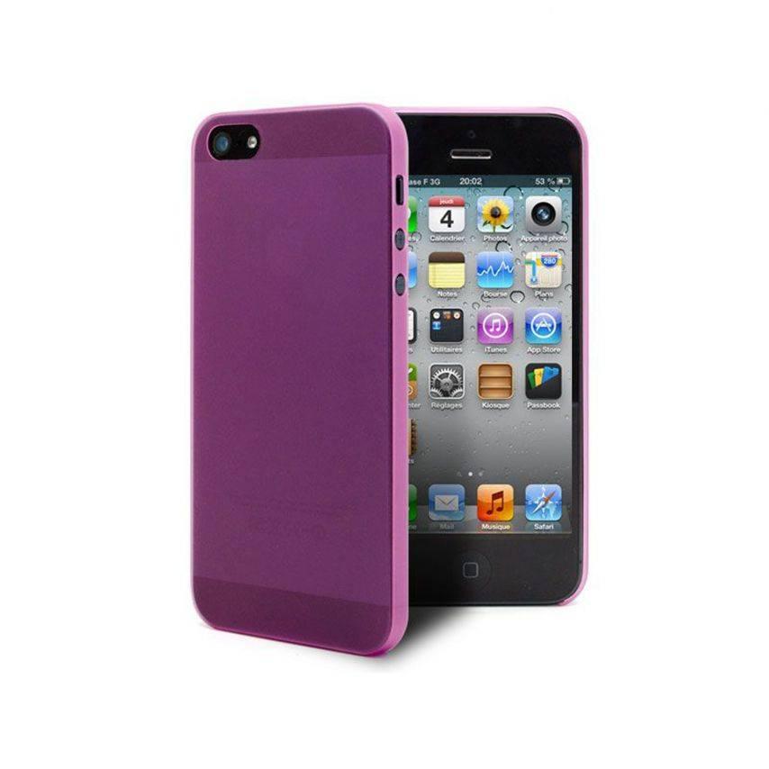 Vue complémentaire de Coque Ultra Fine0.3mm Frost iPhone 5 Rose